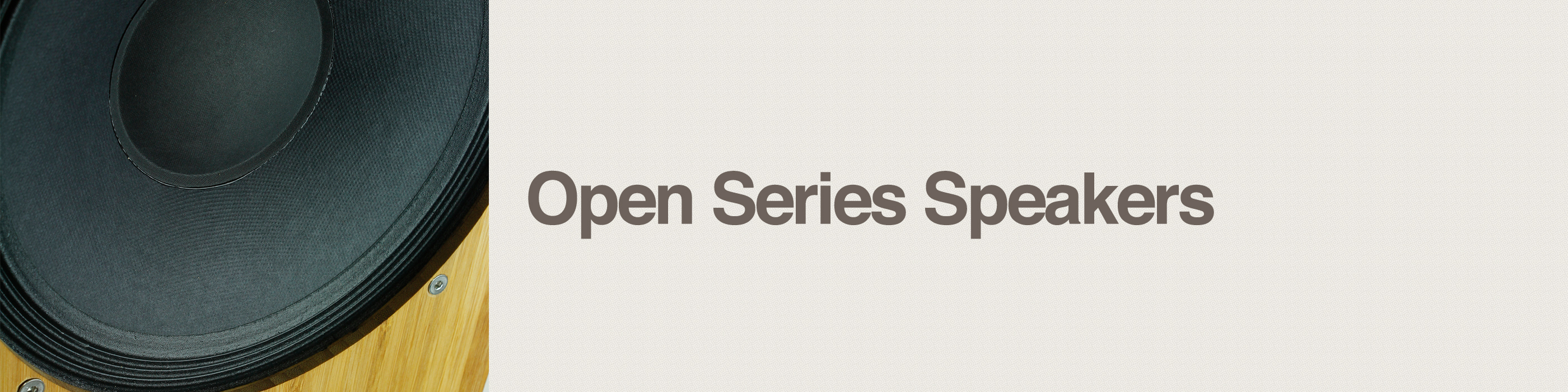 open series speakers header
