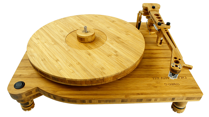 s series turntable top with arm and platter.
