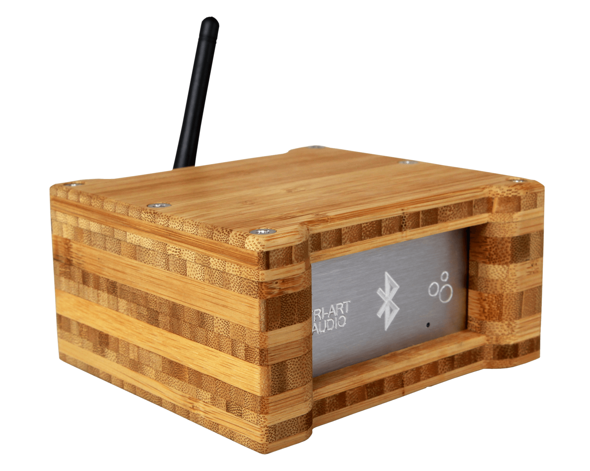 S Series Bluetooth Receiver Bamboo Case Side